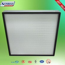 Laminar Air Flow Hoods Fume Hoods Laboratory Hepa Filter H13 H14 Mini Pleat for Cleanrooms