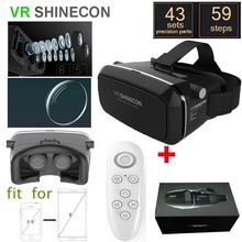 VR SHINECON Version Virtual Reality 3D Glasses google cardboard HD VR Glasses + Bluetooth Wireless Mouse gamepad with package Es