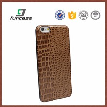 Luxury high quality crocodile grain pu leather phone case for iphone 6s