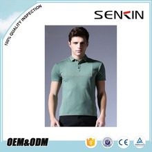 OEM body fit polo shirt , mens green running polo t shirt wholesale by china garment factory