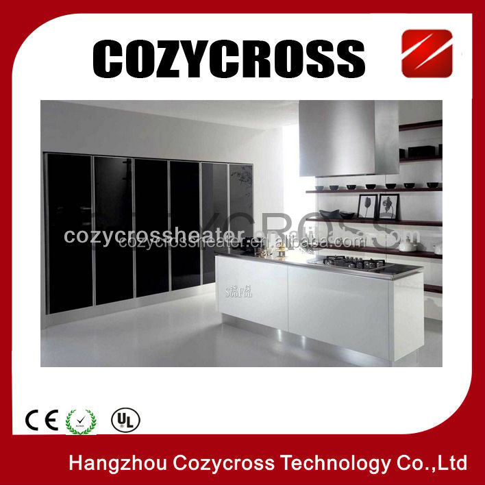 Bathroom panel heater infrared carbon crystal films glass panels