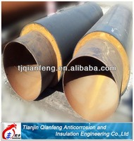 high density pu foam thermal insulation steel pipes for oil pipe