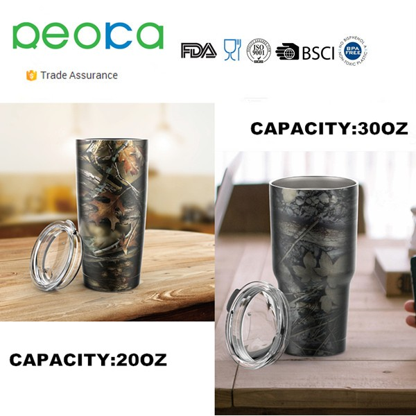 20 oz Premium Grade Stainless Steel Double Wall Vacuum Insulated Travel Tumbler Cup Keeps COLD or HOT
