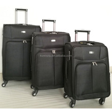 polyester 1680D 3 Piece softside Expandable Spinner Suitcase Luggage Set