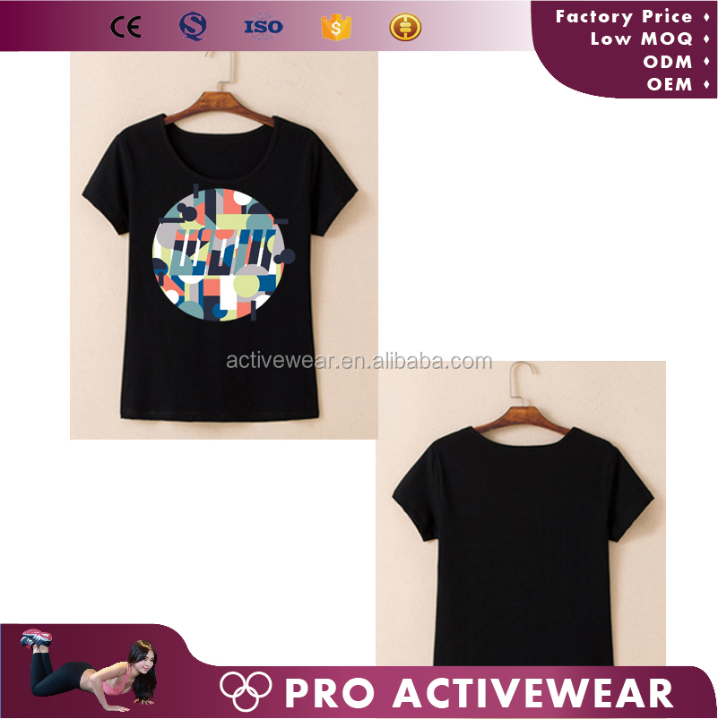 2017 new technology Spray print T-shirts,women summer clothing basic t-shirt, high quality t-shirt of different color