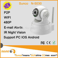 Low cost wholesale Pan tilt P2P IP mini wifi wireless security camera supporting SD card and 2 way audio onvif