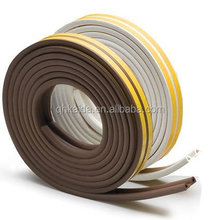 D shape EPDM rubber sealing strip with self adhesive tape