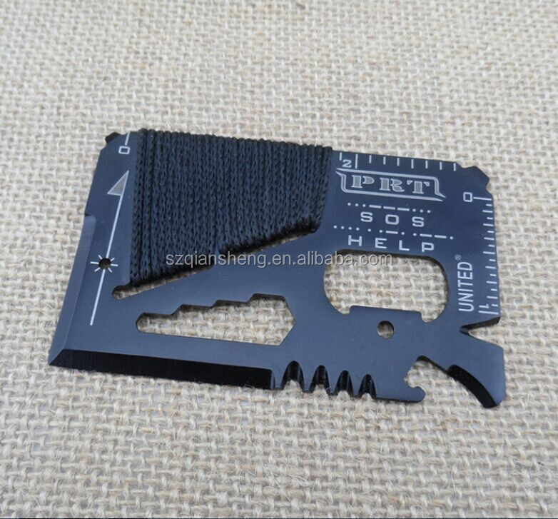 14 in 1 Outdoor Multi-purpose Knife Credit Card Knife Survival Outdoor Camping Tools