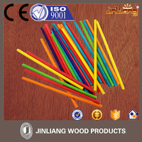 Disposable wooden color craft stick