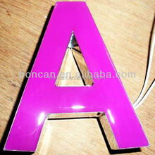 outdoor and indoor face lit illuminated 3d led plexiglass letter sign