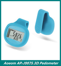 2014 New Colorful High Quality with Silicon back cover clip Digital Smart 3d Pedometer