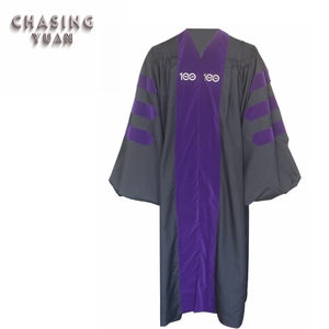 Customized Doctoral Graduation Gown in Purple