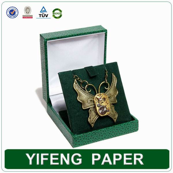 false leather luxury souvenir box packaging with pickup velvet tray