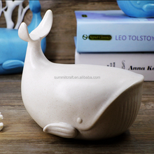 Imitation Ceramics funny animal figurines resin white whale