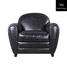 New design hot sale American vintage french style tufted one seater modern leather sofas