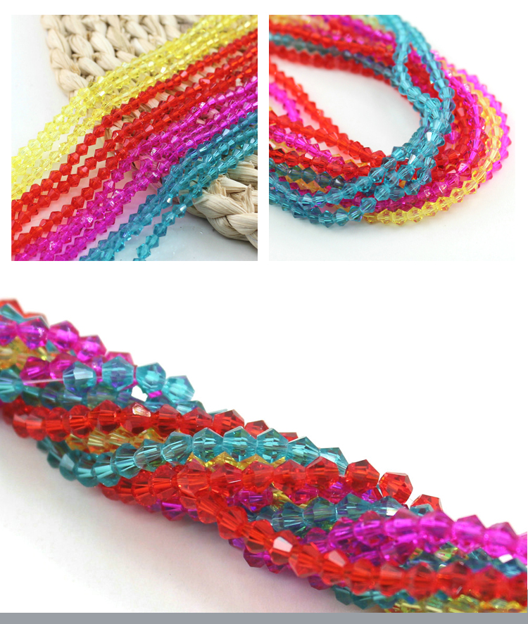 A5301#-2 Special Color Jewelry Accessories Faceted Miyuki 4MM Crystal Glass Bicone Beads