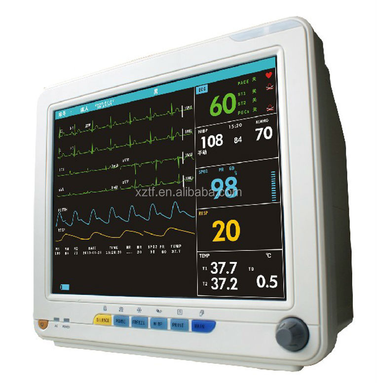 new products medical hospital health 12.1 inch multiparameter patient monitor