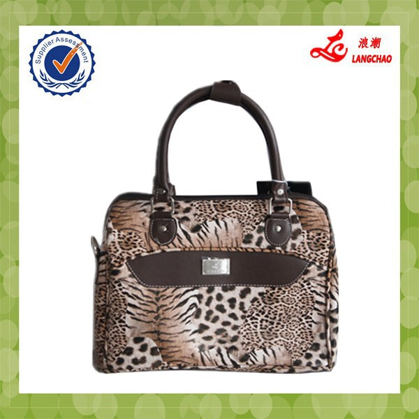 2015 Hot New Products Fashion Leopard Alibaba Wholesale China Ladies Handbags & Women Bags