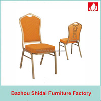 Hebei aluminum steel dining furniture hotel banquet chair SDB-8078