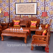 Low Price wood hand carved indian wooden sofa designs for living room furniture