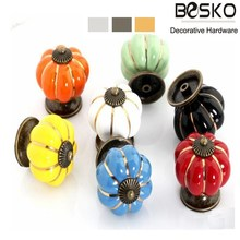 High quality white or color ceramic drawer knobs kitchen cabinet ceramic knobs