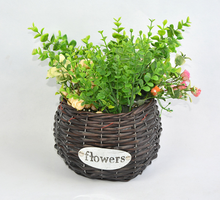 Rustic Hand Crafted Flower Gathering Garden Basket Handmade Flower Basket