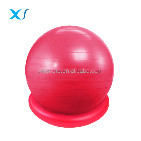 Strength Exercise Yoga Fitness Stability Ball with Ring Slip Resistant GYM QUALITY Improves Balance, Core Strength