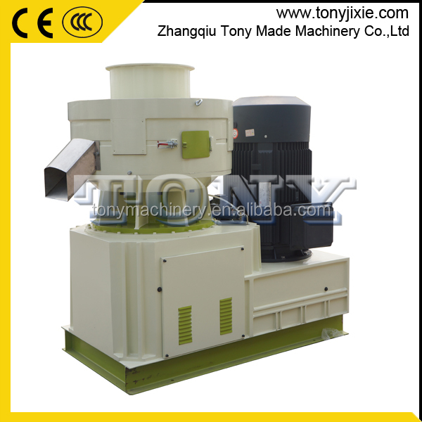 High capacity vertical ring die pellet machine with CE certification