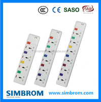 multi pin plug sockets/ fused plug electrical power extension cord