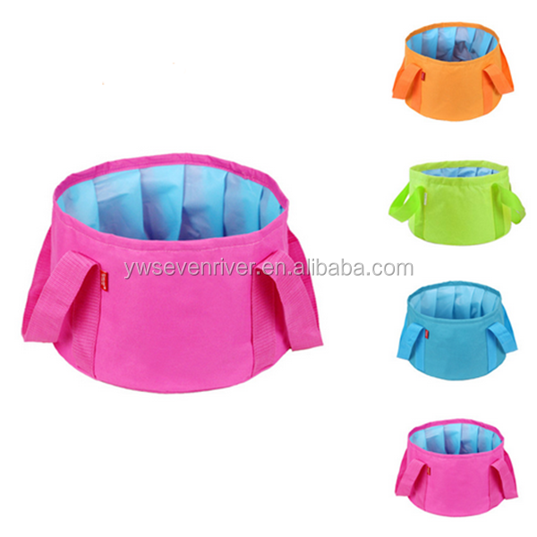 Portable travel wash organizer bag 15L outdoor bucket