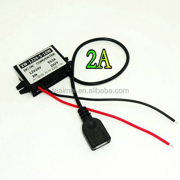 DC/DC12v to 5v 2A converter power module for CCTV PTZ Supply Module converter with female USB