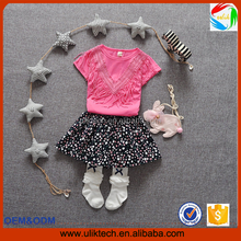 factory supply lowest price lovely candy baby girls dress cotton shirt and spot skirt hot selling in online shop