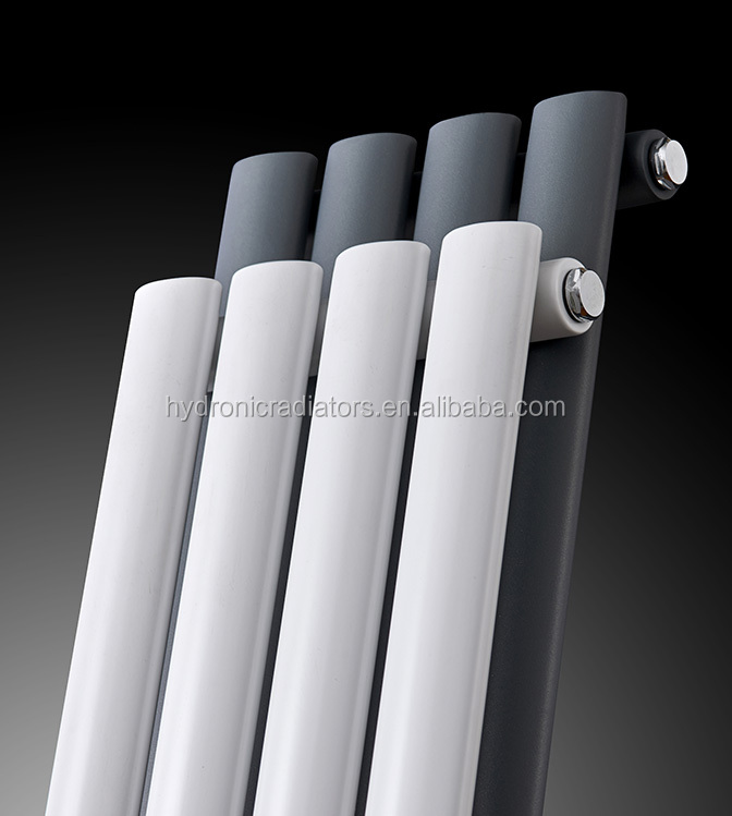 Central heating Designer radiator Oval tube single panel central heating white and anthracite