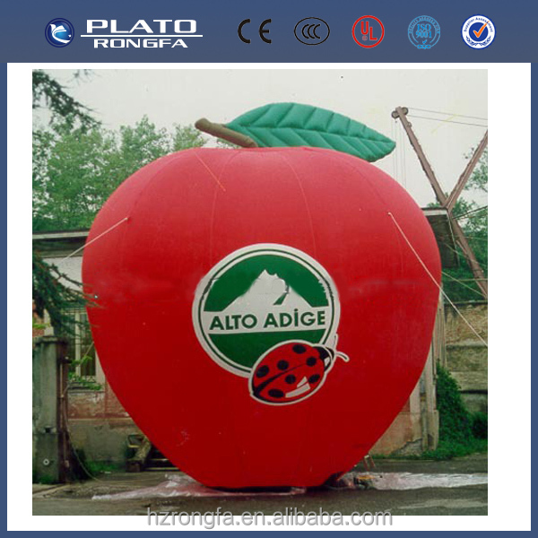 New design Apple inflatable model, PVC apple flatable, PVC inflatable apple model for deconation