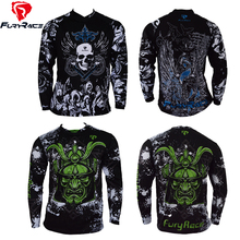 Brand FuryRace Custom Men's MTB Downhill Jerseys Long Sleeves Ciclismo Motocross Cycling Jersey Outdoor <strong>Sportswear</strong> Clothing