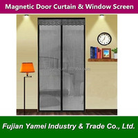 Magnetic lace curtain for doors