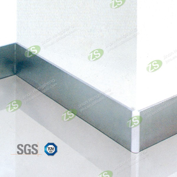 50mm decorative gola brushed aluminum skirting board cover