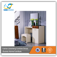 High quality dresser dressing table wooden simple modern white glossy C3303