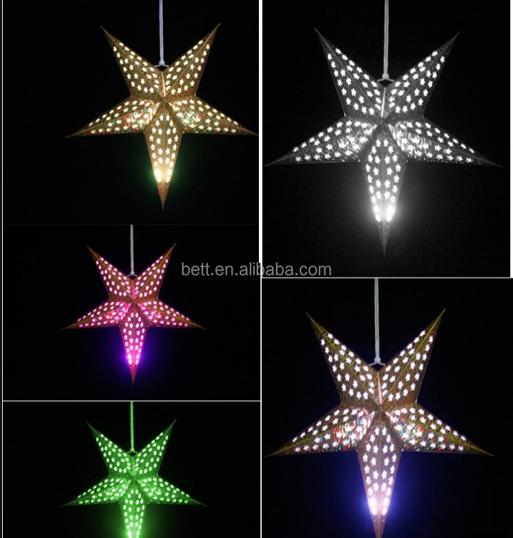 Foldable Large Paper Star Lantern for Christmas Hanging Decoration Wholesale