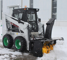 skid steer loader snow blower