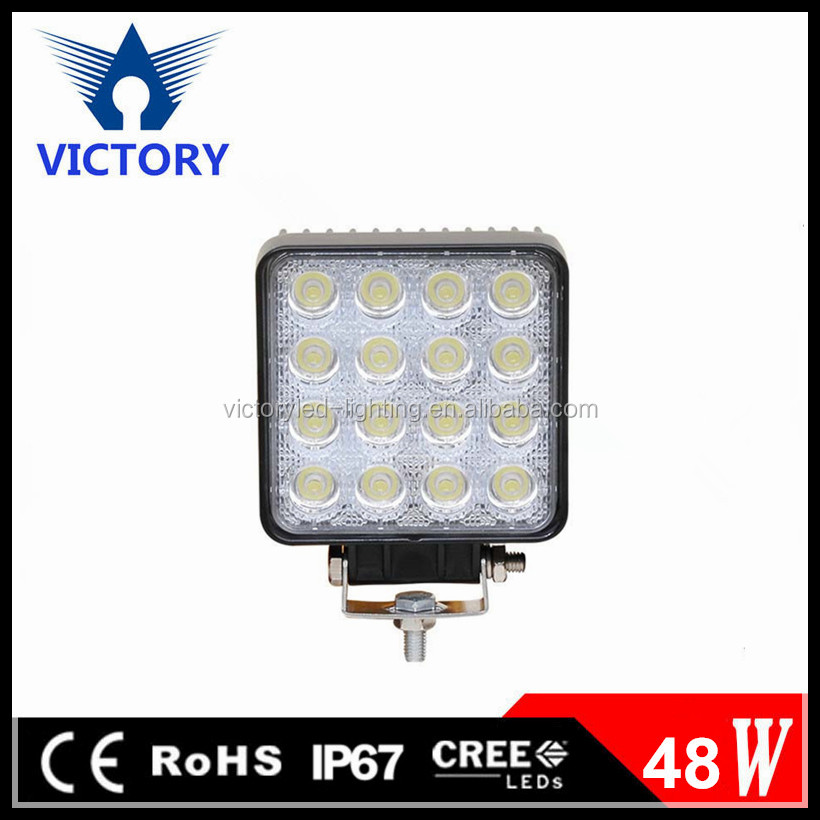 Car Accessories 4 Inch Square 48W LED Fog Flood Work Light For Truck, 4X4, Tractor, Automobile, Vehicle