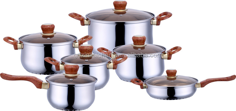 die casting aluminum cooking pot straight shape cookware set