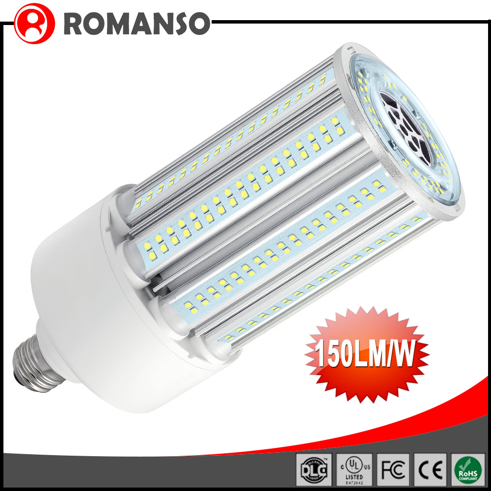 5 Years Warranty Outdoor/Indoor Ce Rohs Listed Approved 360 Degree E27 E40 Base Corn Led Lamp 40W Led Corn Light