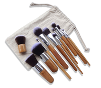 2017 Private Lable Cosmetics Professional New Fashion Girls Tops Color Oval Toothbrush Makeup Brush Set For Makeup