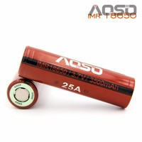 Authentic high capacity battery Aoso IMR18650 25a 3.7V 3500mAh 18650 rechargeable li-ion battery on e-cigar
