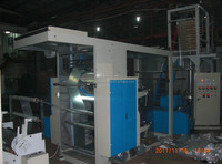 High Speed 2 colors LDPE HDPE biodegradable film printing blowing machine