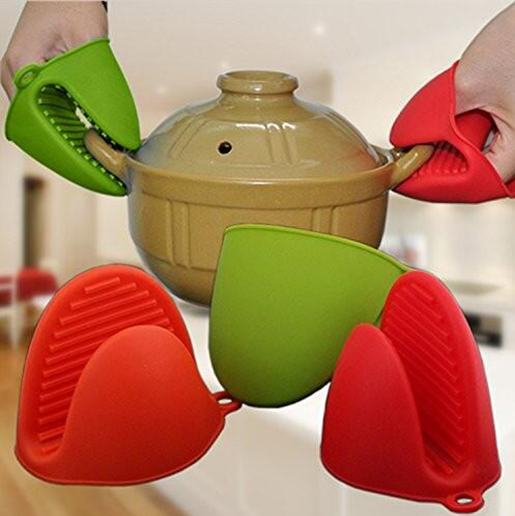 New Arrival Heat Resistant Gloves Silicone cooking Grill Oven Mitts, BBQ mini gloves