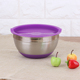 5pcs Stainless Steel Thicken Deep Mixing Salad Bowl Set with plastic lid Mixing Bowl Suppliers