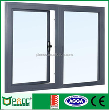 Double layers french aluminum cheap casement window PNOCCW026