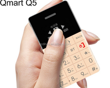 DIHAO Qmart Q5 0.96 inch OLED screen slim and small card size mobile phone